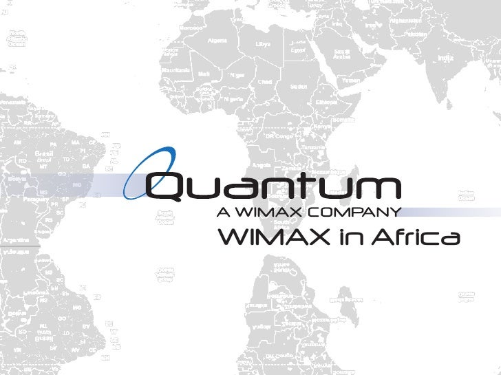 WIMAX in Africa