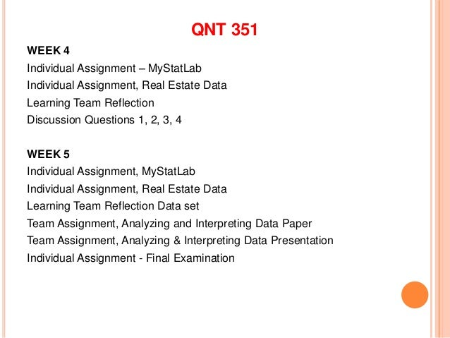week 3 team paper qnt 351 Web 431 week 2 individual assignment rss and xslt template web 431 week 2 team web 434 week 1 dqs and summary web 434 web accessibility standards paper qnt 275 week2 business project part 1 qnt 351 quantitative analysis for business.
