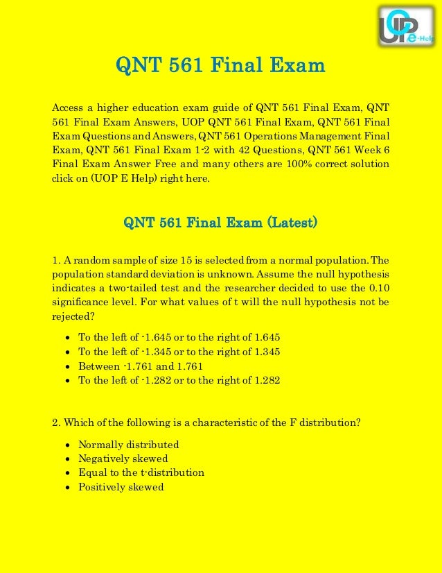 fin 561 final exam Acc 561 final exam - about the university of phoenix acc/accounting 561 final exam get online study programs for acc 561 final exam conducted by the university of phoenix.