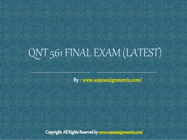 qnt 561 help