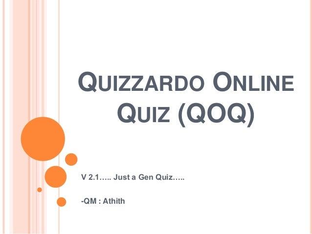 Quizzardo Online Quiz (QOQ) 2.1
