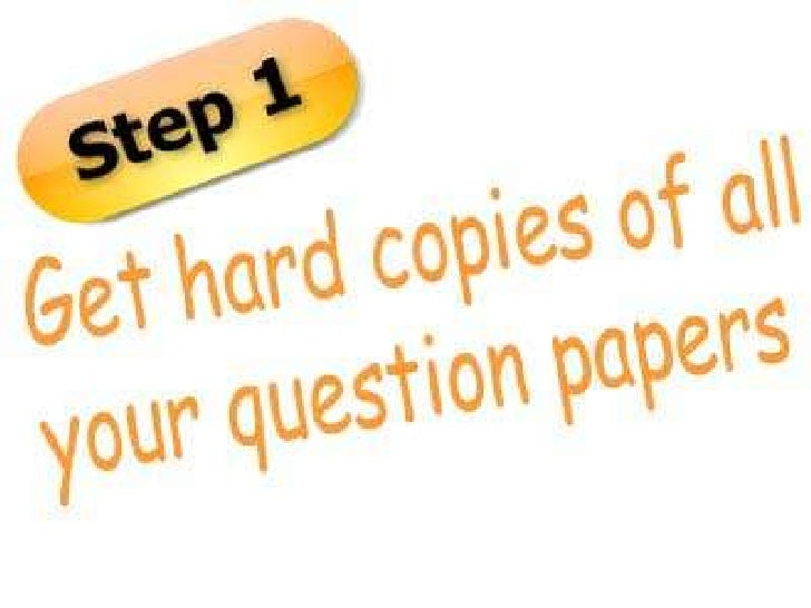 Steps for scanning Question Papers