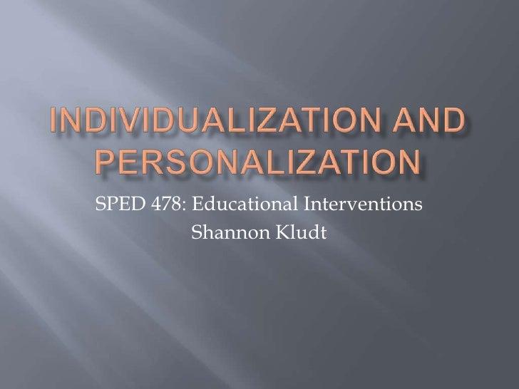 QPI Individualization And Personalization