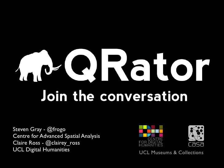 Enhancing Museum Narratives with the QRator Project