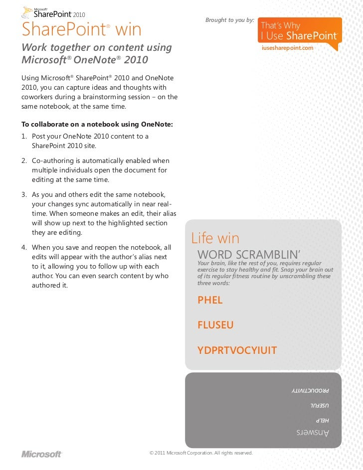 SharePoint 2010 Features