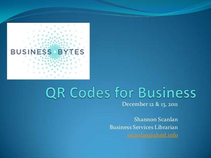 Creating QR Codes For Your Business
