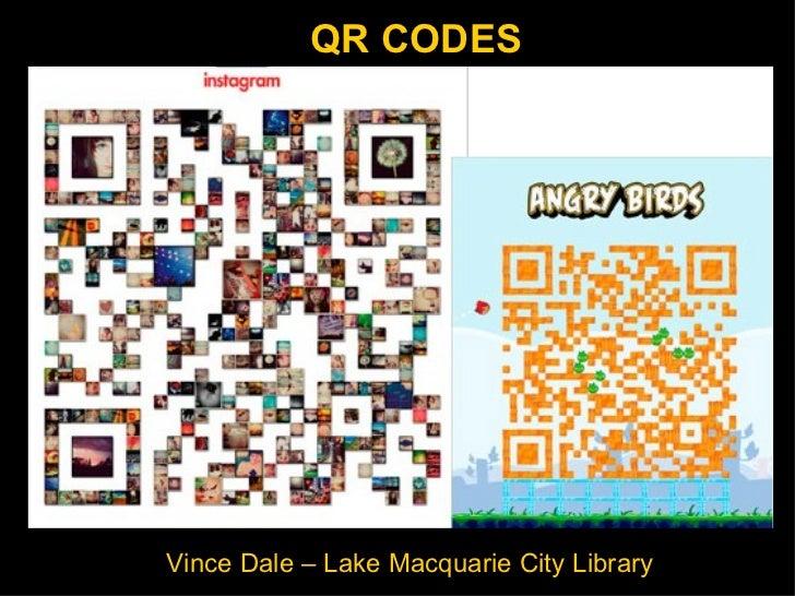 QR codes : Vince Dale 10 slides in 5 minutes