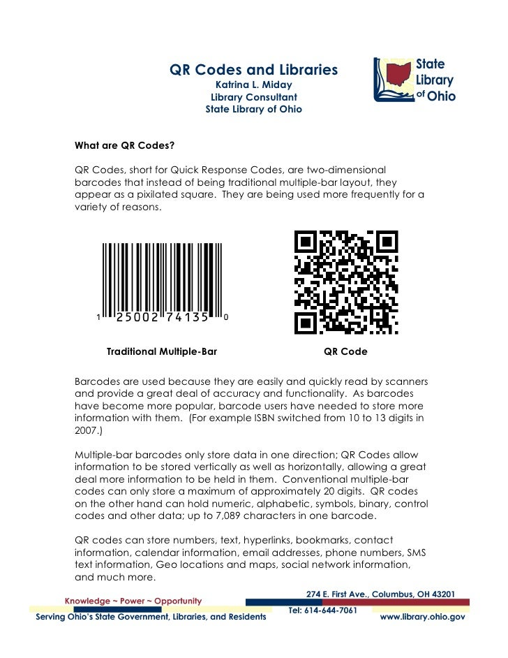 Qr codes and libraries