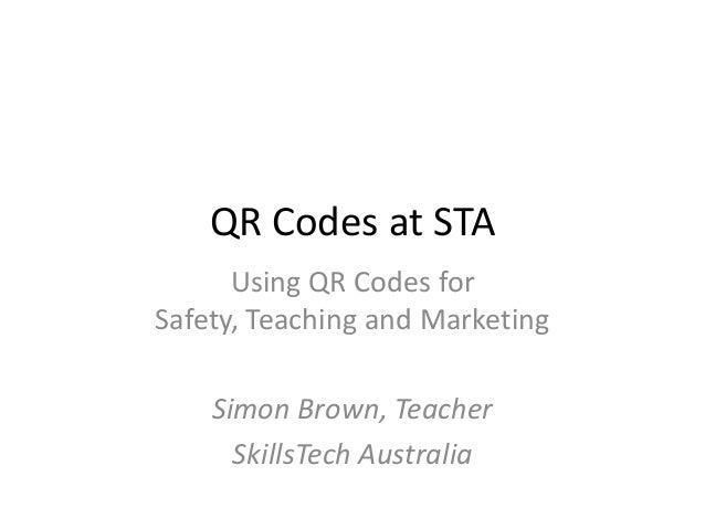 QR Codes at STA