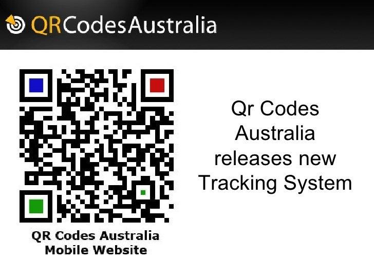 QR Codes Australia New Tracking System