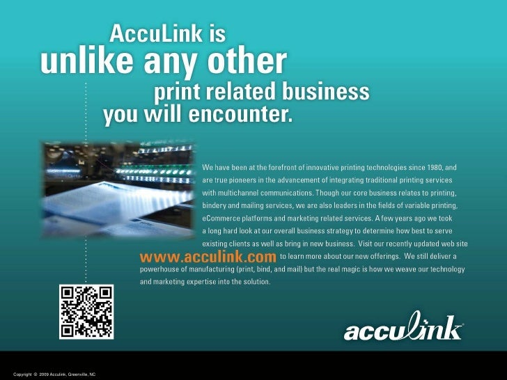 Copyright © 2009 Acculink, Greenville, NC