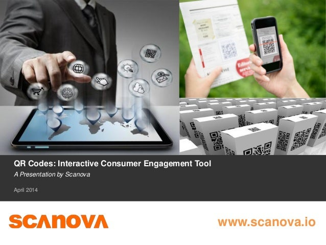QR Codes: Interactive Consumer Engagement Tool A Presentation by Scanova April 2014 www.scanova.io