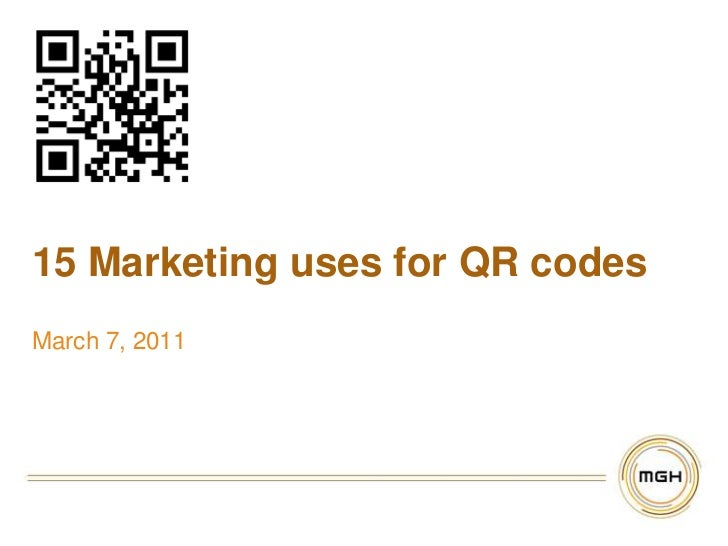 15 Marketing uses for QR codes<br />March 7, 2011<br />