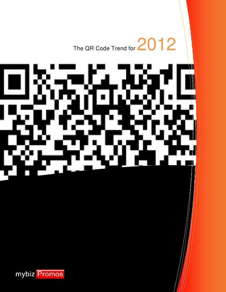 The QR Code Trend for   2012
