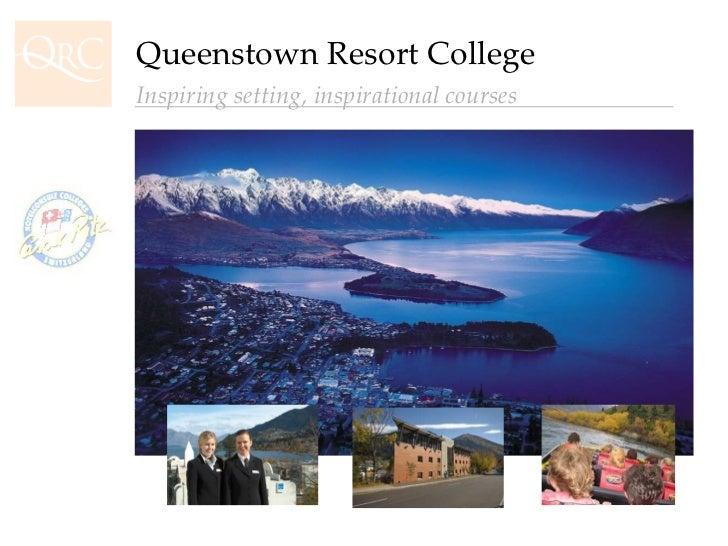Queenstown Resort College Inspiring setting, inspirational courses