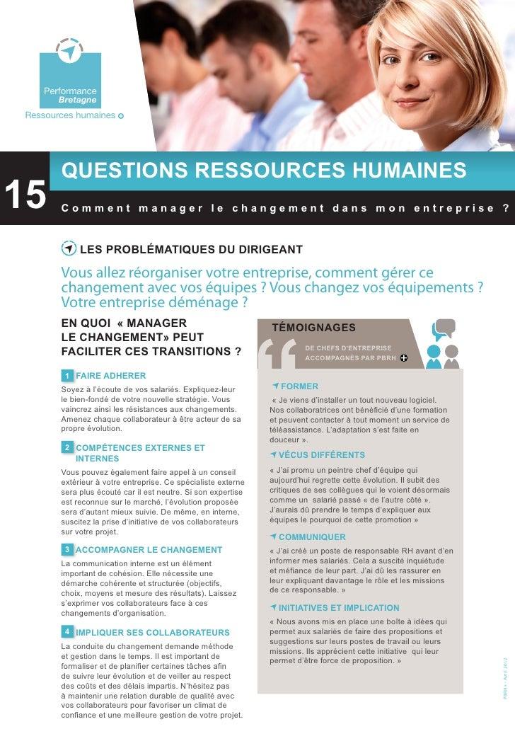 Questions RH: Comment manager le changement dans mon entreprise?