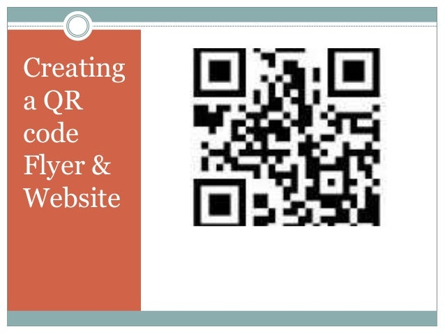 Creating a QR code Flyer & Website