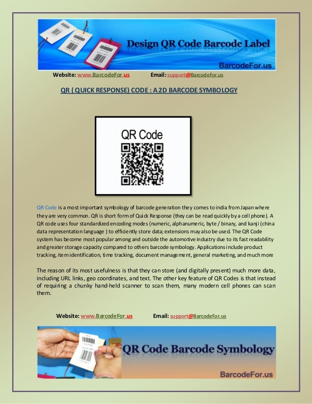 Website: www.BarcodeFor.us Email: support@Barcodefor.us Website: www.BarcodeFor.us Email: support@Barcodefor.us QR ( QUICK...