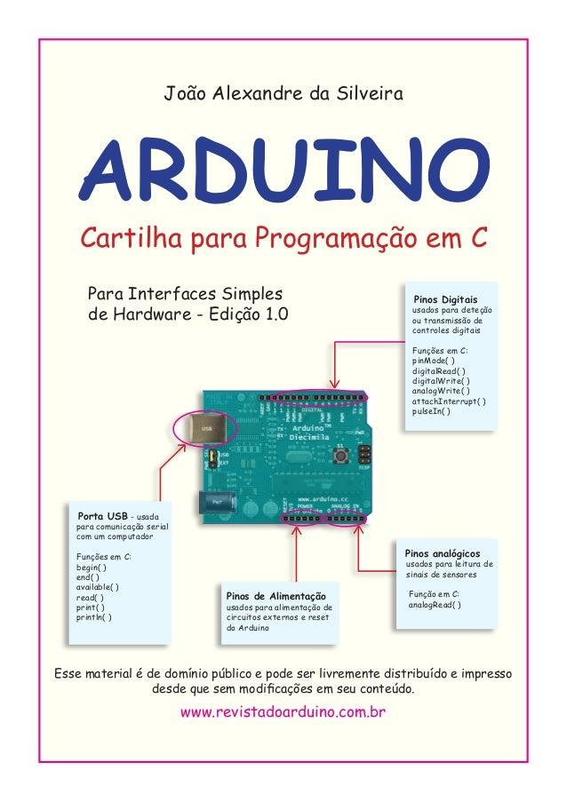 www.revistadoarduino.com.br João Alexandre da Silveira ARDUINO Cartilha para Programação em C   Para Interfaces Simples ...