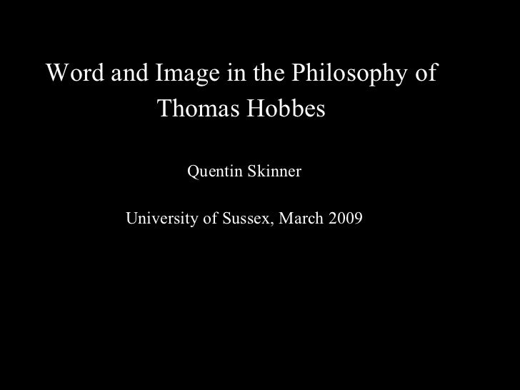 Word and Image in the Philosophy of Thomas Hobbes