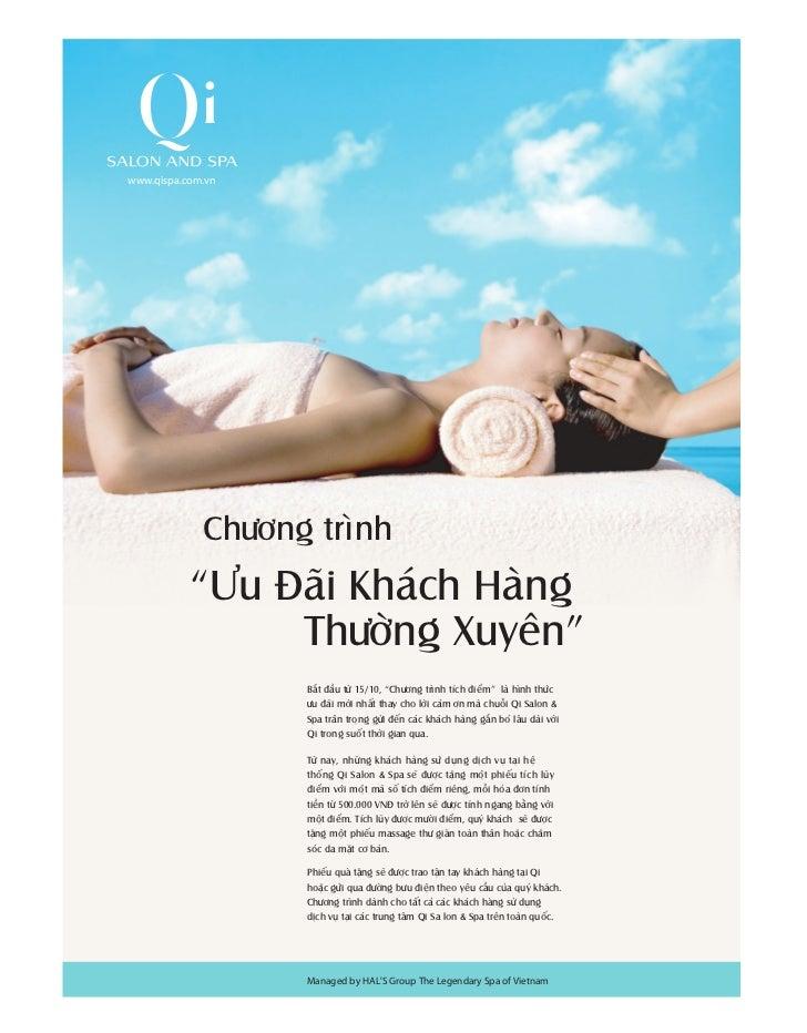 """www.qispa.com.vn             Chöông trình           """"Öu Ñaõi Khaùch Haøng                Thöôøng Xuyeân""""                  ..."""