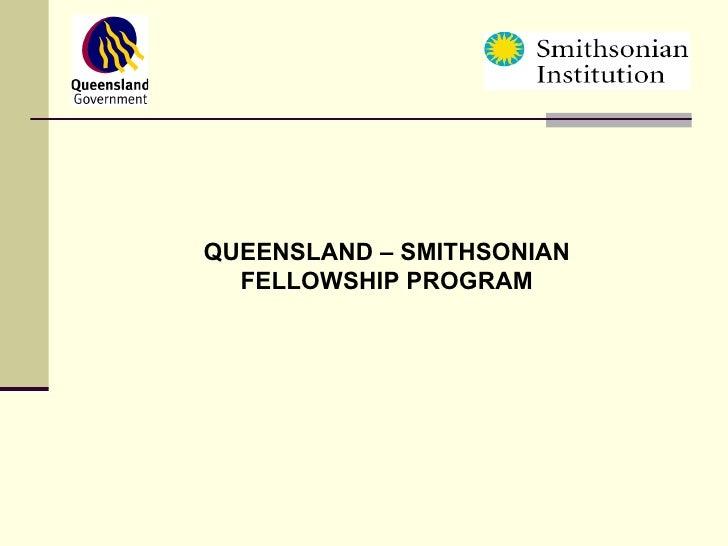 Peter Blondell - Queensland Smithsonian Fellowship