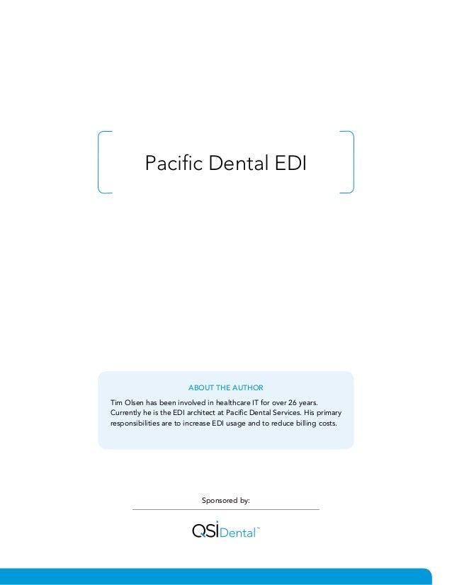 White Paper - Pacific Dental EDI