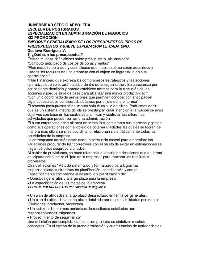 UNIVERSIDAD SERGIO ARBOLEDAESCUELA DE POSTGRADOSESPECIALIZACIÓN EN ADMINISTRACIÓN DE NEGOCIOSXIX PROMOCIÓNENFOQUE GENERALI...