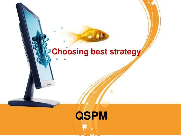 starbucks qspm Grand strategy matrix and quantitative strategic planning matrix (qspm)  will  then apply this knowledge to the starbucks case 16:15-17:00.