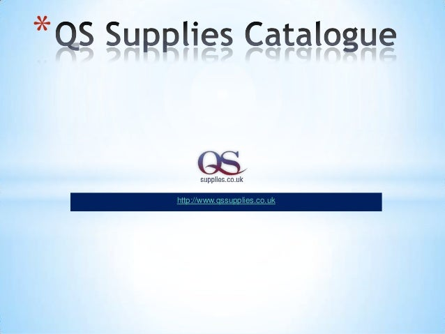 Qs supplies catalogue