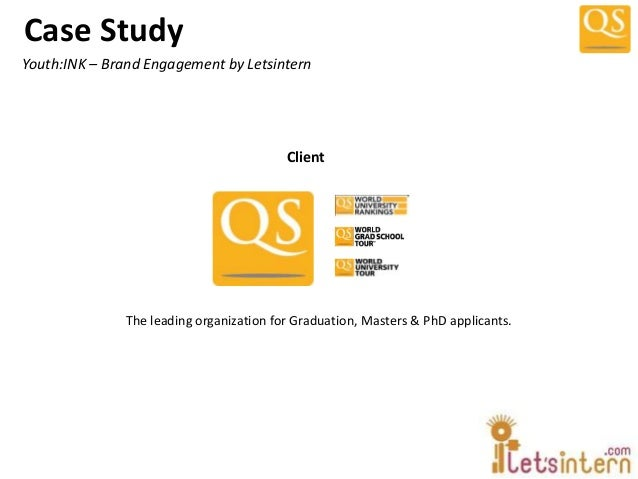 Case StudyThe leading organization for Graduation, Masters & PhD applicants.Youth:INK – Brand Engagement by LetsinternClient