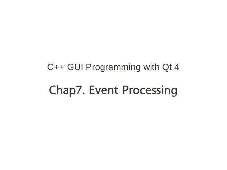 [C++ GUI Programming with Qt4] chap7
