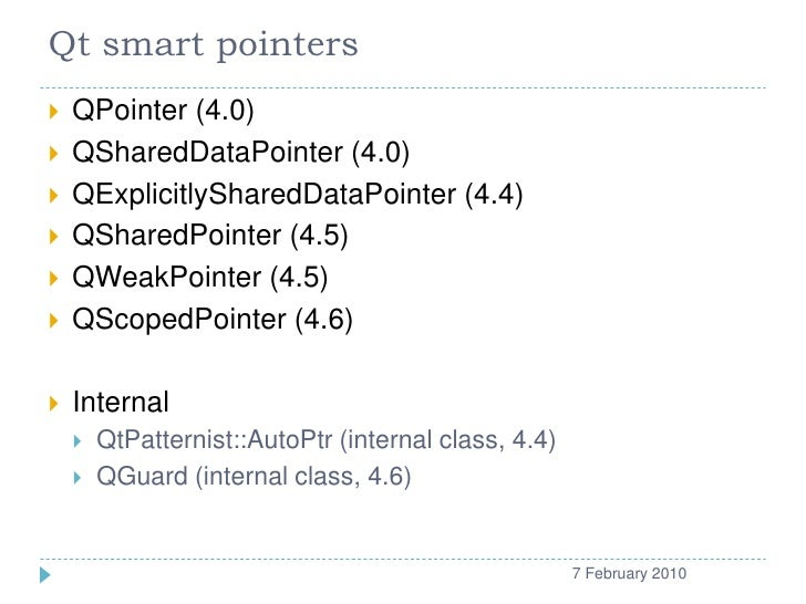 Qt smart pointers   QP...