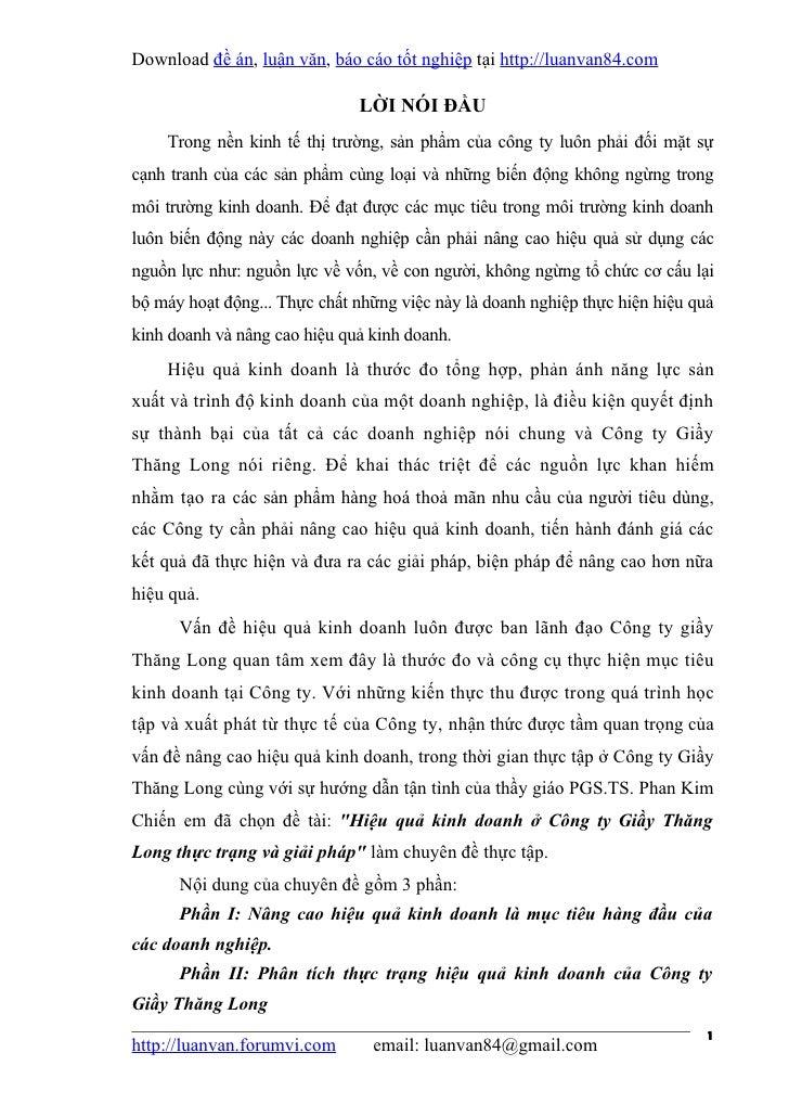 Download đề án, luận văn, báo cáo tốt nghiệp tại http://luanvan84.com                              LỜI NÓI ĐẦU    Trong nề...