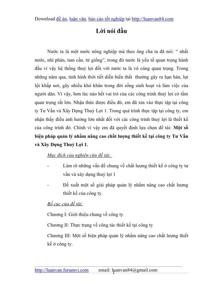 Download đề án, luận văn, báo cáo tốt nghiệp tại http://luanvan84.com                               Lời nói đầu      Nước ...
