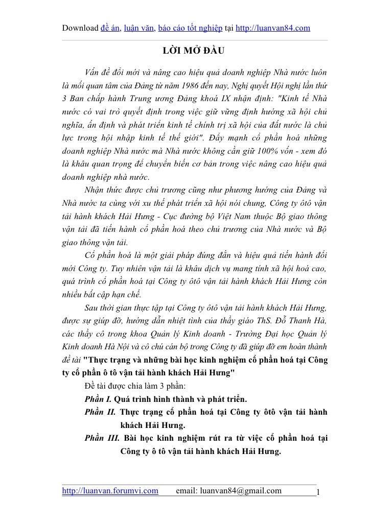 Download đề án, luận văn, báo cáo tốt nghiệp tại http://luanvan84.com                             LỜI MỞ ĐẦU       Vấn đề ...