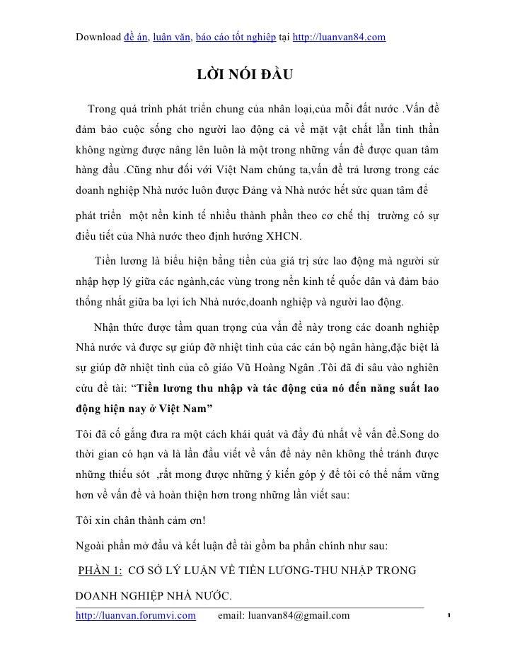 Download đề án, luận văn, báo cáo tốt nghiệp tại http://luanvan84.com                             LỜI NÓI ĐẦU  Trong quá t...