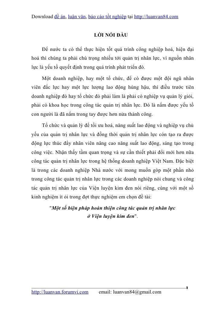 Download đề án, luận văn, báo cáo tốt nghiệp tại http://luanvan84.com                              LỜI NÓI ĐẦU     Để nước...