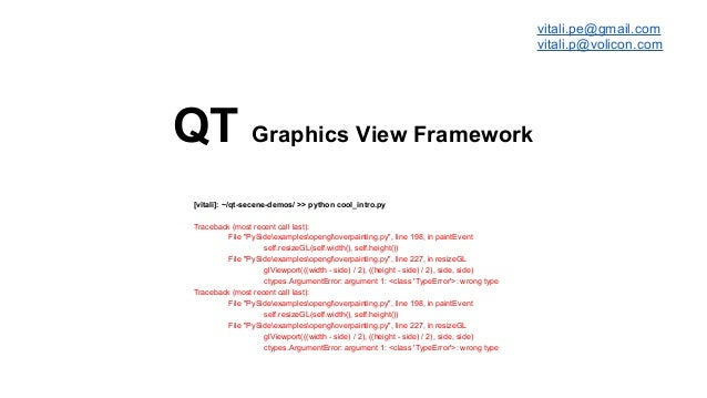 Qt Graphics View Framework (Qt Developers Meetup Isreal)