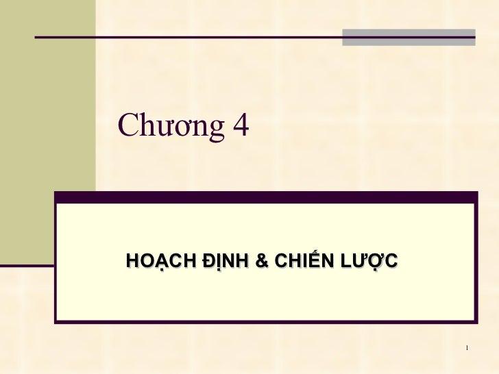 Quan Tri Hoc -Ch4 Hoach Dinh