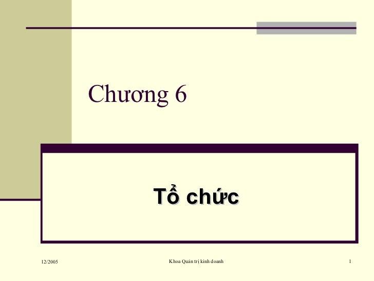 Chương 6 Tổ chức
