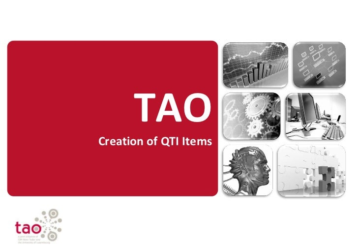 TAO DAYS - Creation of QTI Items
