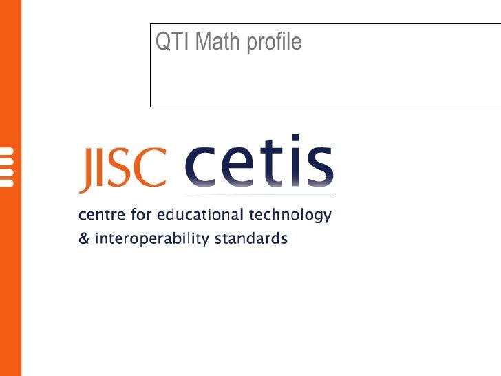 Qti Math Profile