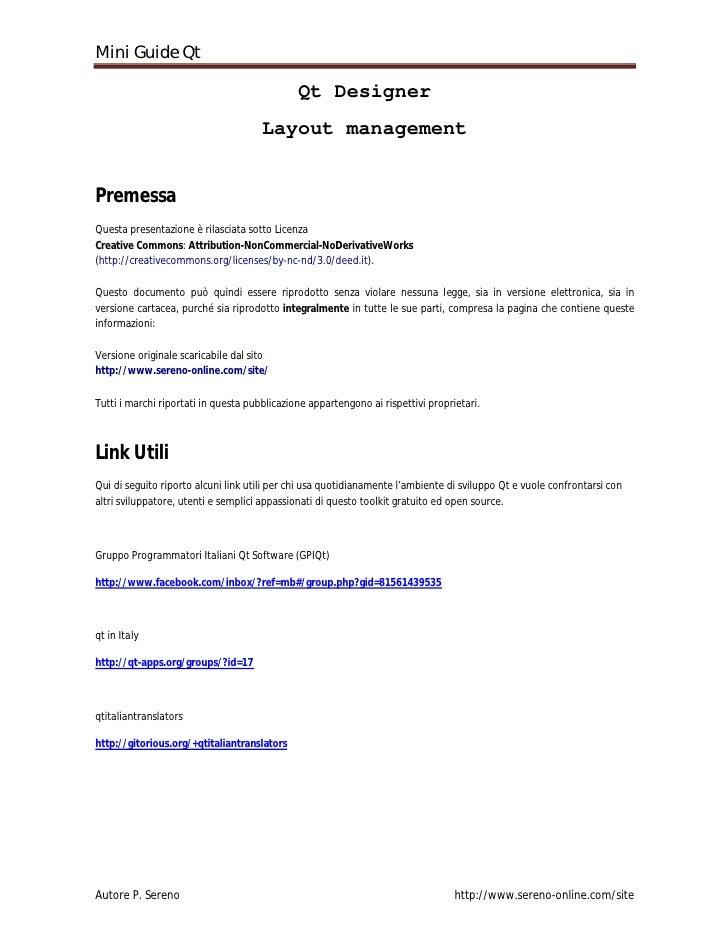Mini Guide Qt                                                Qt Designer                                       Layout mana...