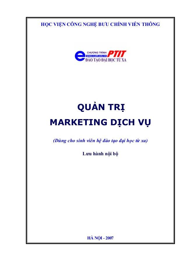 quản trị marketing dịch vụ