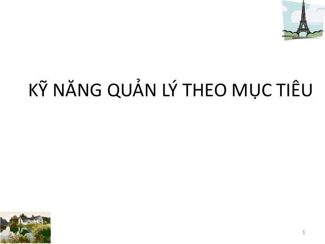 Ky nang quan ly theo muc tieu _ dao tao theo yeu cau