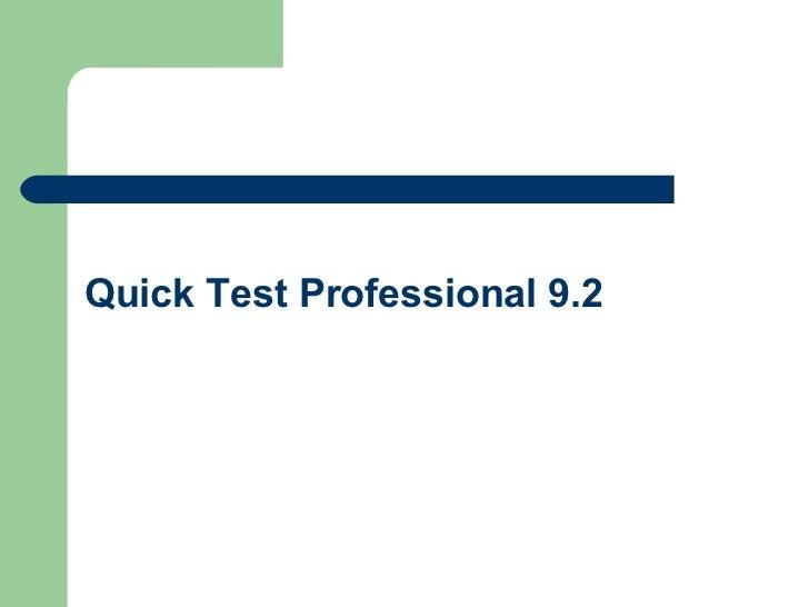 Qtp 9.2 Tutorial