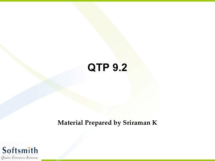 Qtp92 Presentation