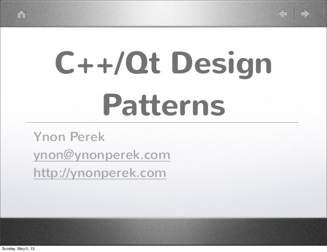Qt Design Patterns