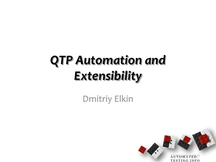 Qtp Automation and Extensibility